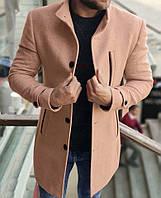Стильное бежевое мужское осеннее пальто. Размеры S