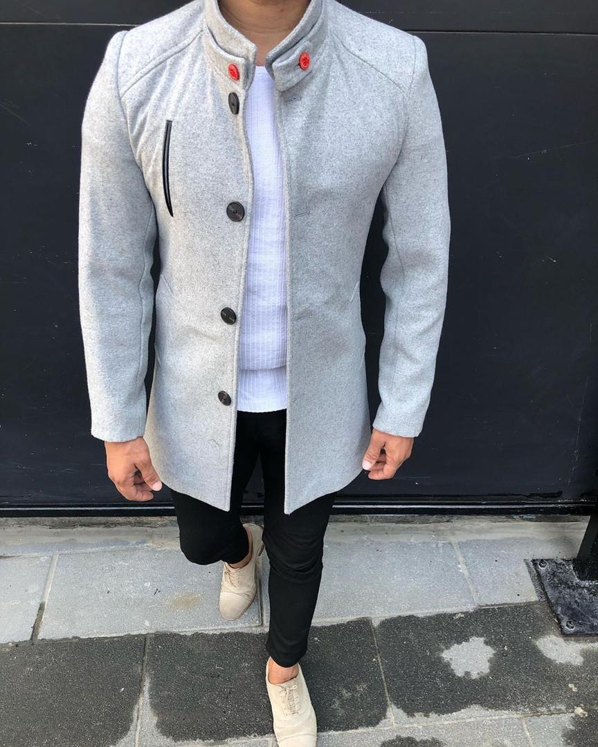 Стильне чоловіче пальто осінь. Розміри XL