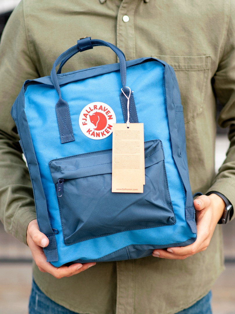 Стильний рюкзак Fjallraven Kanken синій / Портфель для школи і на кожен день