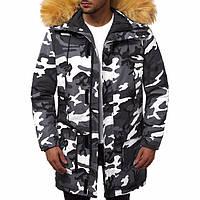 Зимняя мужская парка камуфляж STILL Camo / Куртка удлиненная (р. L, XL, XXL)