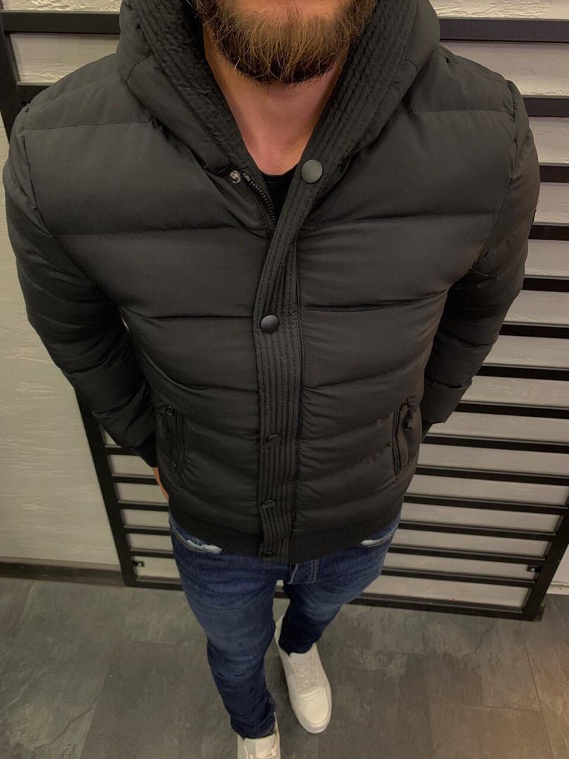 Мужская куртка зимняя чёрная. Размеры ( S,M,L, XL)