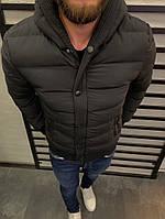Мужская куртка зимняя чёрная. Размеры ( S,M,L, XL), фото 1