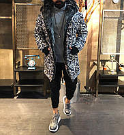 Зимова чоловіча парку сіра. Тепла чоловіча зимова куртка. Розміри (S,M,L,XL)