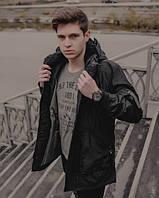 Мужская парка осень-зима, чёрная. Тёплая парка с капюшоном. Размеры (XL,XXL), фото 1