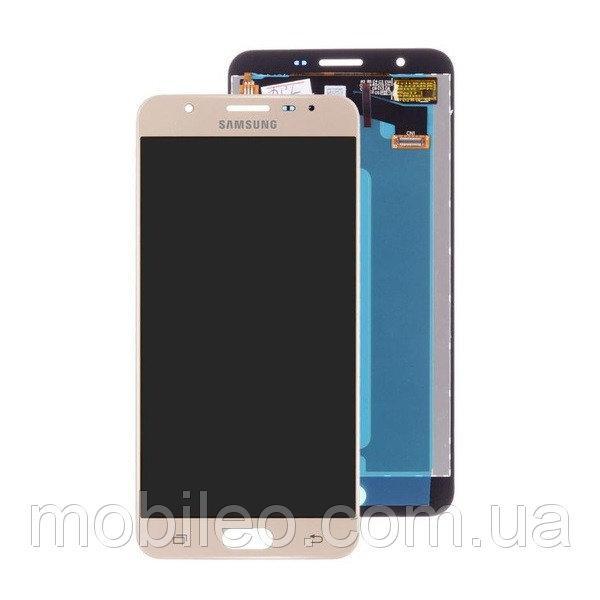Дисплей (LCD) Samsung G610 Galaxy J7 Prime з тачскріном, золотий (сервісний оригінал)