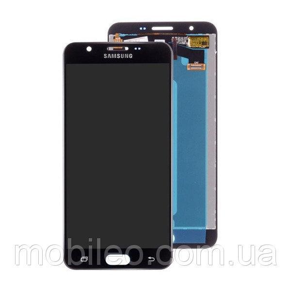 Дисплей (LCD) Samsung G610 Galaxy J7 Prime с тачскрином, чёрный (сервисный оригинал)