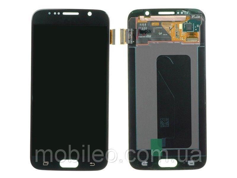 Дисплей (LCD) Samsung GH97-17260A G920 Galaxy S6 Amoled с тачскрином, темно-синий (сервисный оригинал)