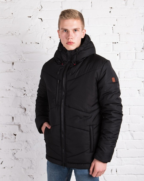Мужская куртка зимняя чёрная. Куртка теплая. Размеры (S,XL)