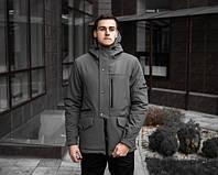 Чоловіча зимова парку, сіра. Розміри (S,M,L,XL), фото 1