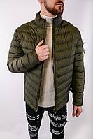 Мужская куртка осень-зима хаки. Куртка теплая. Размеры (M,L,XL,XXL,XXXL), фото 1