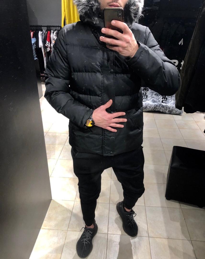 Чоловіча куртка зимова чорна. Куртка тепла. Розміри (S,M,XL)