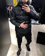 Чоловіча куртка зимова чорна. Куртка тепла. Розміри (S,M,XL), фото 1