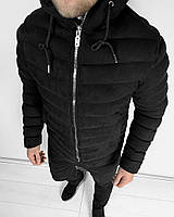 Чоловіча куртка зимова чорна. Куртка тепла. Розміри (S,M,L,XL,XXL)