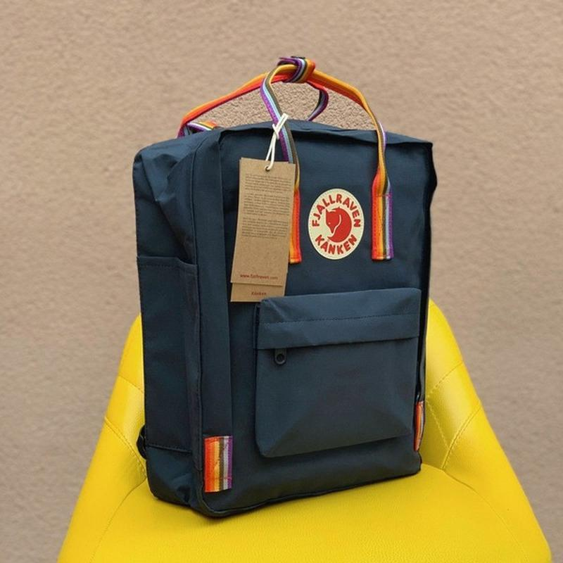 Стильний рюкзак Fjallraven Kanken темно-синій/Канкен Канкен портфель для школи і на кожен день