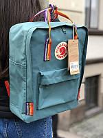 Стильний рюкзак Fjallraven Kanken бірюзовий/Канкен Канкен портфель для школи і на кожен день, фото 1