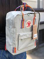 Стильный рюкзак Fjallraven Kanken светло-серый/ Канкен портфель для школы и на каждый день, фото 1