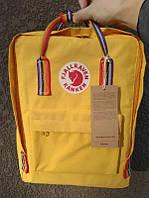Стильний рюкзак Fjallraven Kanken жовтий/Канкен Канкен портфель для школи і на кожен день, фото 1