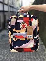 Стильный рюкзак Fjallraven Kanken цветной/ Канкен портфель для школы и на каждый день, фото 1