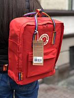 Стильний рюкзак Fjallraven Kanken червоний/Канкен Канкен портфель для школи і на кожен день, фото 1