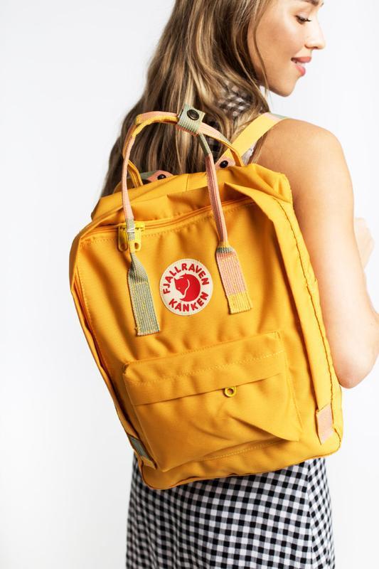 Стильный рюкзак Fjallraven Kanken жёлтый/ Канкен портфель для школы и на каждый день