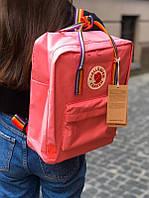 Стильный рюкзак Fjallraven Kanken коралловый/ Канкен портфель для школы и на каждый день, фото 1
