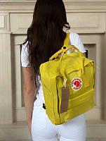 Стильний рюкзак Fjallraven Kanken лимонний/Канкен Канкен портфель для школи і на кожен день