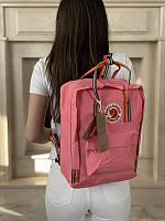 Стильний рюкзак Fjallraven Kanken рожевий/Канкен Канкен портфель для школи і на кожен день