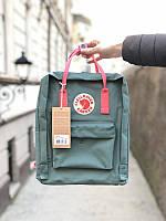 Стильний рюкзак Fjallraven Kanken сірий/Канкен Канкен портфель для школи і на кожен день