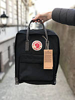 Стильний рюкзак Fjallraven Kanken чорнийКанкен Канкен портфель для школи і на кожен день