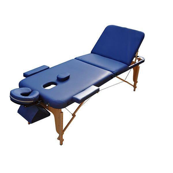 Массажный стол ZENET ZET-1042/M navy blue 2-х секционная