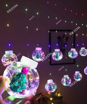 Кульки-роса ЯЛИНКА 10шт, 3м * 0,8 м / перехідник, мульти