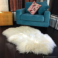 Коврик игровой для детей из овечьей шкуры натуральный 120х75 см