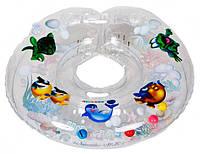 Круг для купания младенцев Delfin (Польща).Прозрачный+Подарок!