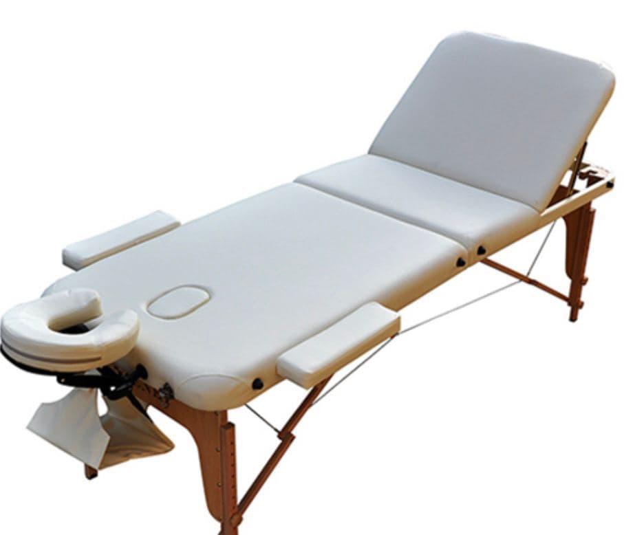 Массажный стол ZENET  ZET-1042/S cream 2-х секционная