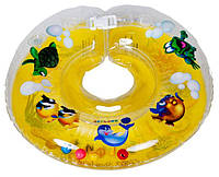 Круг для купания младенцев Delfin (Польща).Желтый+Подарок!