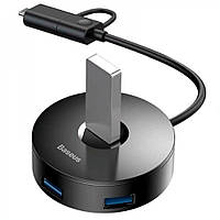 Hub адаптер Baseus Round Box CAHUB-GA01, Black