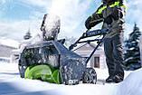 Снегоуборщик аккумуляторный Greenworks GD80SBК2 (2600402) 80V (51 см) бесщеточный с АКБ и зар. ус-вом, фото 4