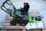 Снегоуборщик аккумуляторный Greenworks GD80SBК2 (2600402) 80V (51 см) бесщеточный с АКБ и зар. ус-вом, фото 8