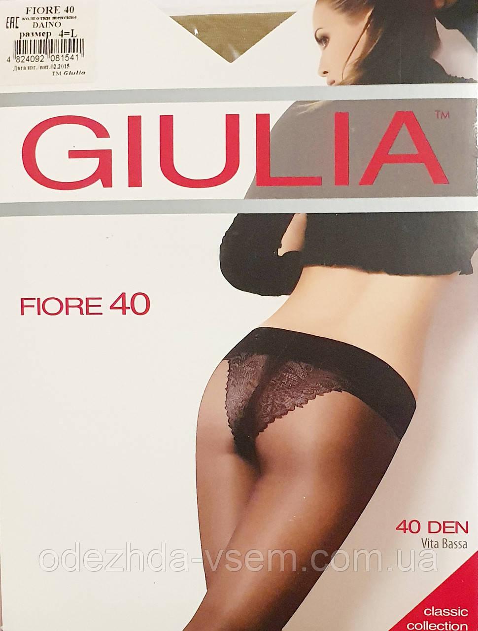 Женские колготки  Giulia 40Den ажурные трусики