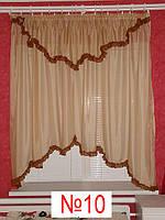Готовые шторы, ламбрикены для кухни №10 Затишна оселя