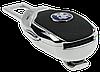 Заглушка - переходник ремня безопасности  с логотипом PEUGEOT VIP КЛАССА (Авиационная сталь, кожа), фото 4