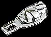 Заглушка - переходник ремня безопасности  с логотипом PEUGEOT VIP КЛАССА (Авиационная сталь, кожа), фото 5