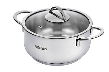 Большая кастрюля 4,3 л с крышкой ARDESTO Kitchenware (AR0743S)