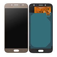 Дисплей Samsung J730 Galaxy J7 2017, с тачскрином, INCELL, Gold