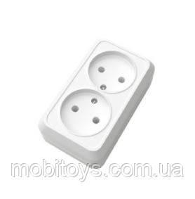 Розетка нак. двойная 2к ОD-20 Simpli ELM 41-0033