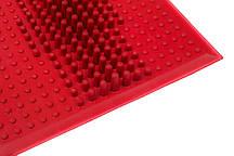 Коврик резиновый WAVE от плоскостопия красный