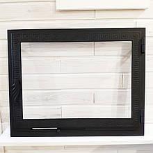 Дверца для печи с жаропрочным стеклом Hetta Mia 465*585мм