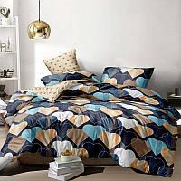 Комплект постельного белья Home Бязь Голд Сердца 200x220 наволочки 50x70 или 70x70 SKL64-278000