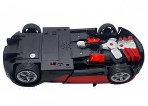 Машинка Трансформер Bugatti Robot Car с пультом Size 118 Красная, фото 3