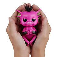 Оригинальный интерактивный ручной дракончик Лекси Fingerlings Pink and Black Glitter Dragon Lexi, фото 6
